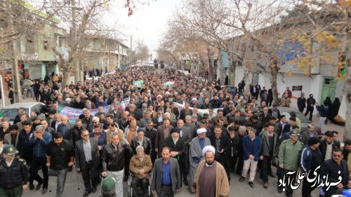 آیین تشییع پیکر جانبازان دفاع مقدس در علی آباد کتول