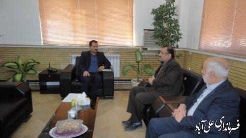 دیدار رئیس بهره برداری شهرستا های استان گلستان در شرکت گاز با فرماندار