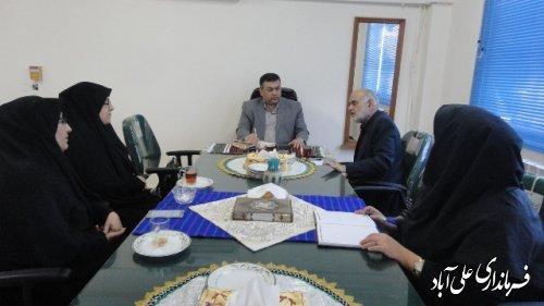 تشکیل جلسه ستاد جهیزیه در فرمانداری علی آباد کتول