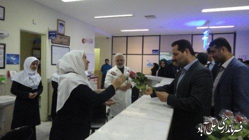 فرماندار به مناسبت روز پرستار با پرستاران بیمارستان بقيه الله الاعظم علی آباد کتولدیدار نمود