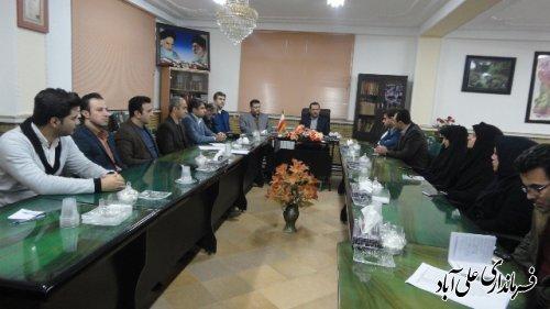 جلسه داخلی فرماندار شهرستان علی آباد کتول برگزار شد