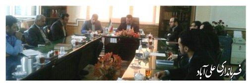 دیدار فرماندار علی آباد کتول با اعضای حزب کار گزاران