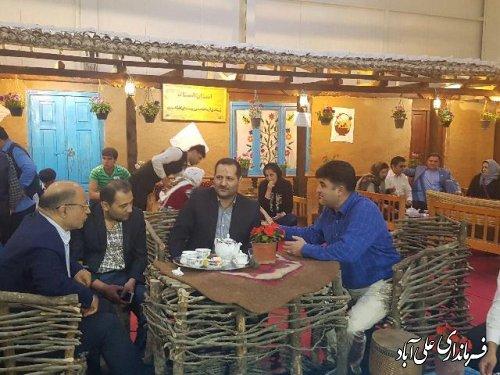 بازدید فرماندار علی آباد کتول از نمایشگاه توانمندی های روستاییان و عشایر کشور