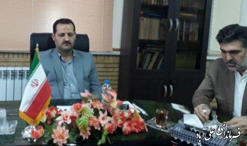 جلسه داخلی فرماندار علی آباد کتول  با کارکنان فرمانداری  برگزارشد