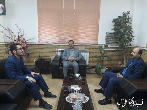 دیدار مدیر بانک توسعه تعاون با فرماندارعلی آباد کتول