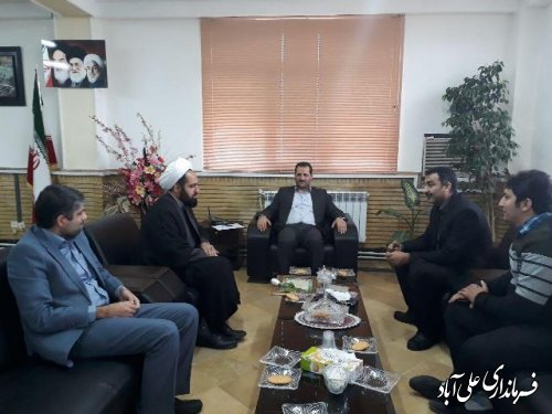 دیدار رئیس بنیاد شهید و امور ایثارگران به مناسبت روز شهید با فرماندارعلی آباد کتول