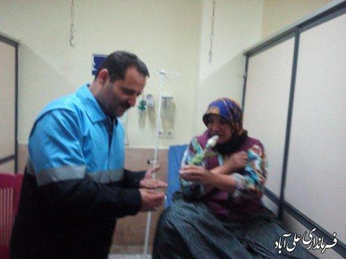 فرماندارعلی آباد کتول از بیماران بیمارستان بقیه الله الاعظم(ع) عیادت کرد