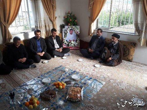 دیدار نوروزی فرماندار شهرستان علی آباد کتول با تعدادی از خانواده معظم شهدا