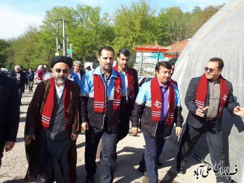 افتتاح نوروزگاه پارک جنگلی کبودوال با حضور فرماندار علی آباد کتول