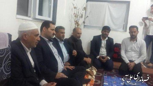 دیدار فرماندار با خانواده شهید نظری به مناسبت  سال جدید
