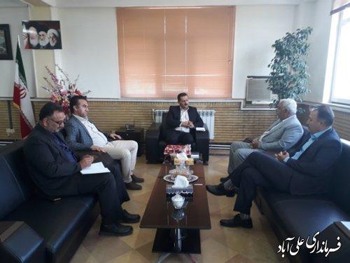 نشست اعضای هیأت مدیره نظام صنفی کشاورزی و منابع طبیعی با فرماندار علی آباد کتول