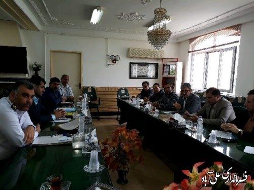 جلسه شورای ترافیک با حضور فرماندارعلی اباد کتول برگزارشد
