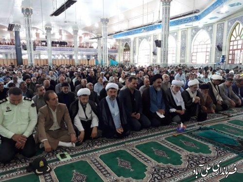 سخنرانی فرمانداربه مناسبت  روز جهانی قدس در مصلی امام رضا(ع)علی آباد کتول