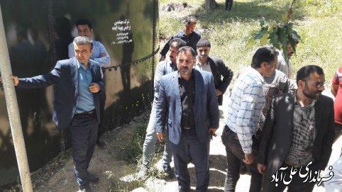 بازدید بخشدار مرکزی از منبع آب روستای افراتخته