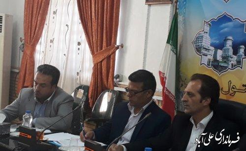 جلسه ستاد ساماندهی متکدیان شهرستان علی آباد کتول برگزارشد