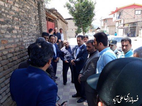بازدید فرماندارعلی آباد کتول از طرح شهید شوشتری