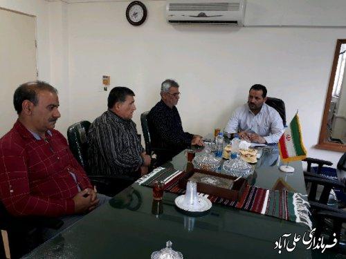 دیدار اعضای کانون بازنشستگان علی آباد کتول با فرماندار