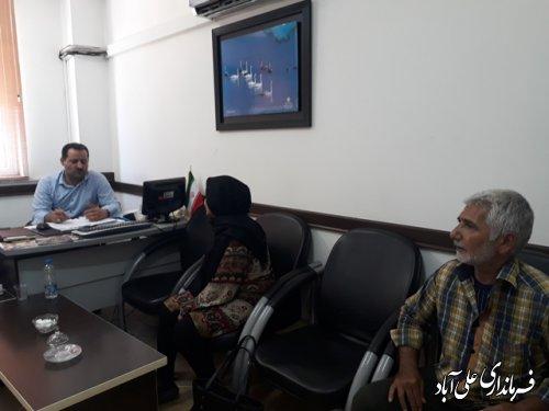 ملاقات عمومی فرماندار با مردم شریف شهرستان علی آباد کتول برگزارشد