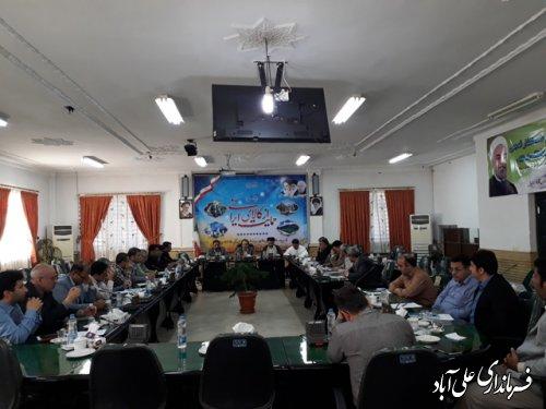 برگزاری جلسه شورای هماهنگی برنامه های دهه کرامت در فرمانداری علی آباد کتول