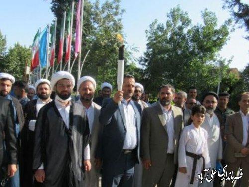حمل مشعل سلامت به مناسبت هفته مبارزه با مواد مخدر در علی آباد کتول