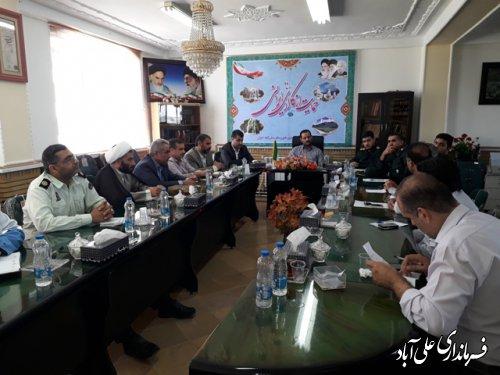 جلسه برنامه ریزی برنامه های فرهنگی هنری وتفریحی  در تفرچگاه ها برگزار شد