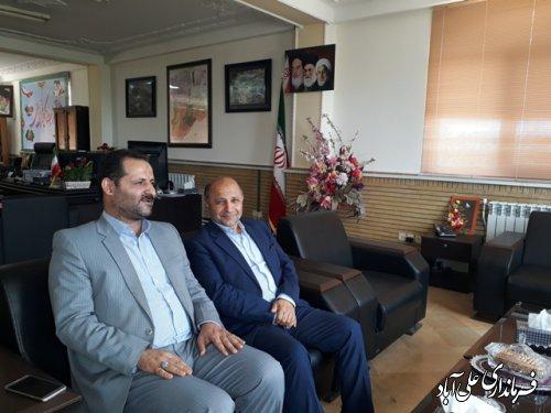 دیدار نماینده مردم علی آباد کتول در مجلس با فرماندارشهرستان