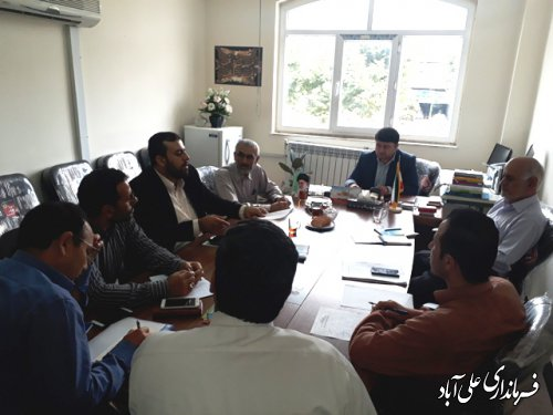 برگزاری جلسه خيرين مسكن ساز شهرستان علی آباد کتول برگزارشد