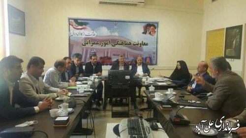 جلسه بررسی رفع موانع و مشکلات پروژه تله کابین علی آباد کتول برگزار شد