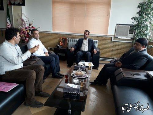 دیدار رئیس بیمارستان بقیه الله الاعظم(عج) علی آباد کتول با فرماندار