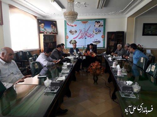 جلسه شورای حفاظت از منابع آب شهرستان علی آباد کتول