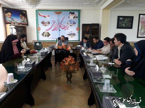 مراسم تجلیل از خبرنگاران شهرستان علی آباد کتول برگزار شد