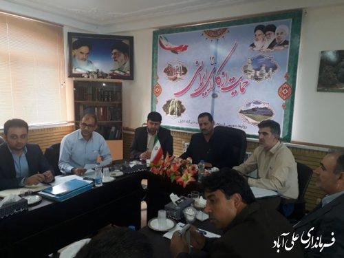 جلسه کمیته فنی کارگروه اشتغال در فرمانداری علی آباد کتول برگزار شد