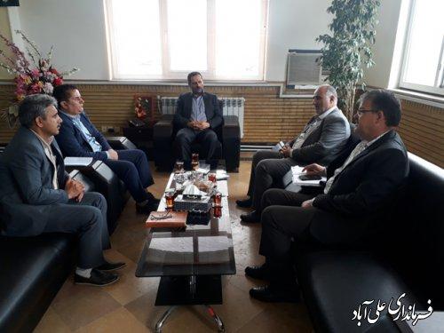 دیدار مدیر کل هواشناسی استان گلستان با فرماندارعلی آباد کتول