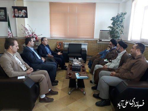 دیدار مدیر کل دفتر امور اجتماعی و فرهنگی استانداری با فرماندار