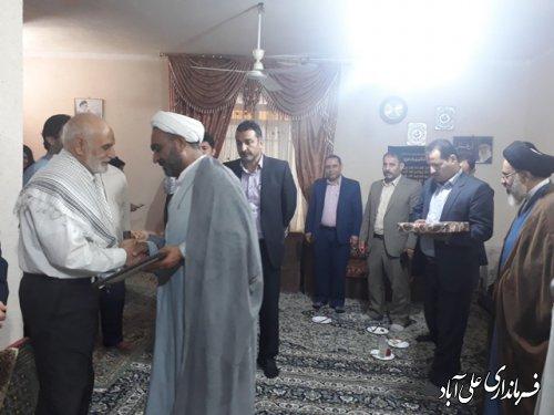 دیدار فرماندار با خانواده های معظم شهدا به مناسبت هفته دولت