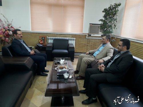 به مناسبت هفته دولت رئیس دادگستری با فرماندار شهرستان دیدار کرد