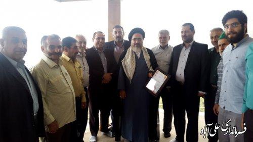 دیدار فرماندار علی آبادکتول با جانباز70درصد هشت سال دفاع مقدس