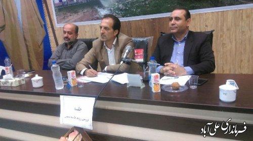 جلسه حاشیه نشینی و آسیب های اجتماعی با حضور برگزارشد
