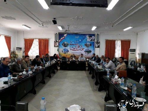 جلسه ی کارگروه سلامت و امنیت غذایی علی آباد کتول برگزارشد