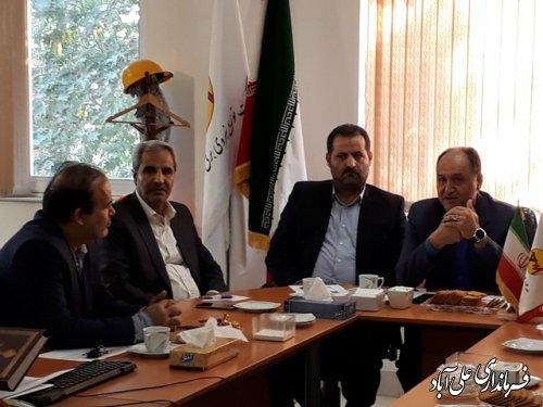 جلسه بررسی شبکه برق علی آباد کتول با حضور مشاور مدیر عامل شرکت توانیر