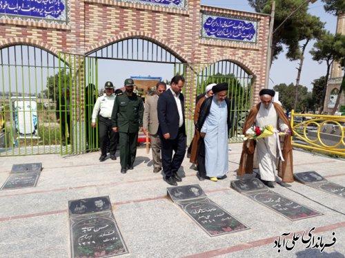 تجدید میثاق با آرمان های شهدا  با حضور امام جمعه جدید شهر علی آباد کتول