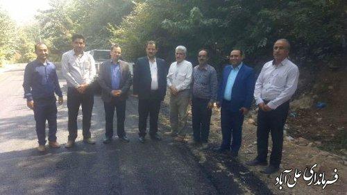 بازدید فرماندارعلی آباد کتول از پروژه های راهداری ،حمل ونقل جاده ای ،راه و شهرسازی