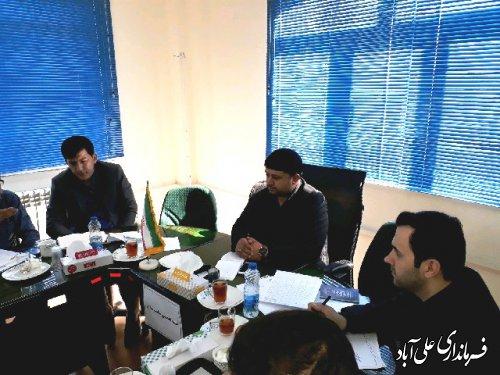 جلسه مناسب سازی مبلمان شهری در فرمانداری علی آباد کتول برگزار شد
