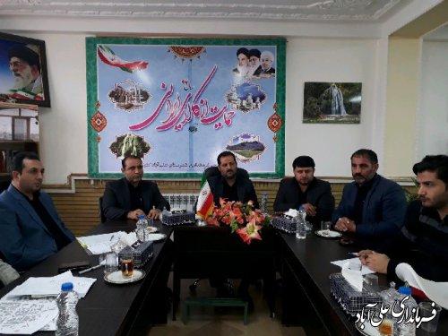 بررسی تمهیدات لازم برای بازگشایی مدارس در شورای ترافیک علی آباد کتول