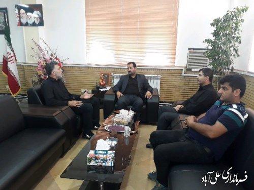 دیدار هیات والیبال با فرماندار شهرستان علی آباد کتول