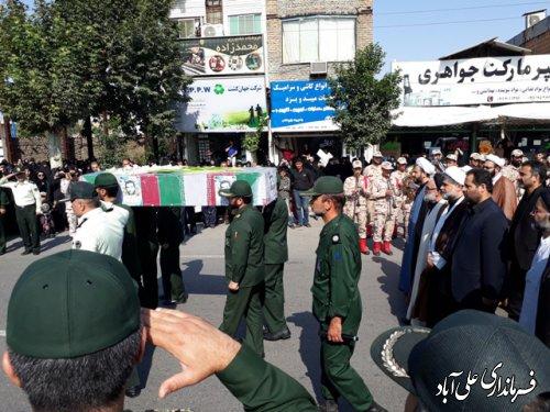 پیکر شهید دوران دفاع مقدس در علی آباد کتول تشییع شد