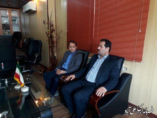 بازدید فرماندار از اداره راه و شهرسازی علی آباد کتول