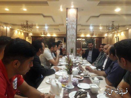 حضور فرماندار علی آباد کتول در اقامتگاه  تیم ملی کاراته جوانان ایران