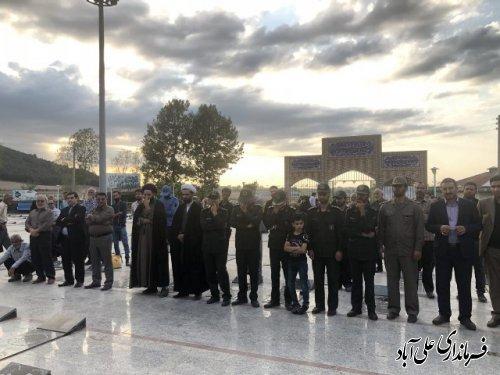 غبارروبی گلزار شهدای علی آباد کتول به مناسبت گرامیداشت هفته دفاع