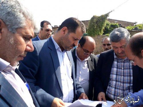 حضور معاون هماهنگی امور عمرانی استاندار گلستان در علی آباد کتول